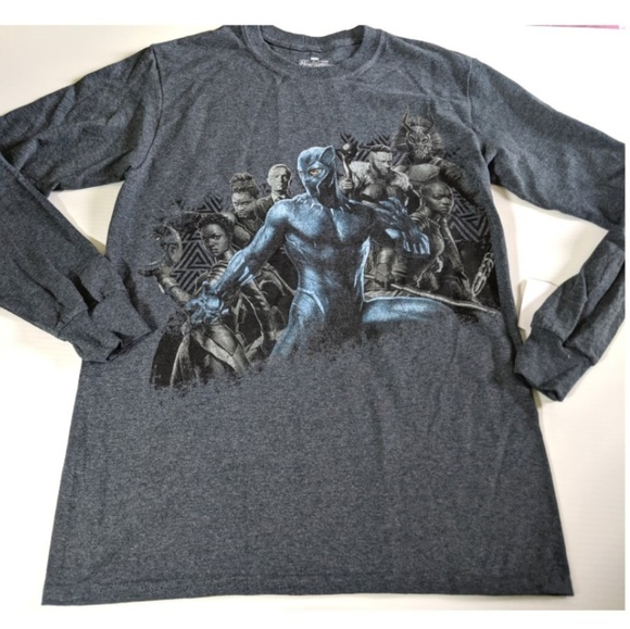 Marvel Other - MARVEL NWT Black Panther Long Sleeve Heathered Tee